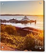Steilacoom Ferry Dock At Sunset Acrylic Print