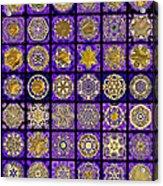 Stellars Two Dingbat Quilt Acrylic Print