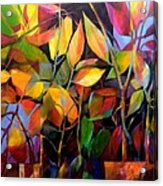 Stems And Leaves No. 76 Acrylic Print