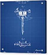 Stencil Pen Patent From 1877 - Blueprint Acrylic Print