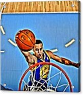 Steph Curry Acrylic Print by Florian Rodarte
