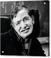 Stephen Hawking Acrylic Print