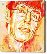 Stephen Hawking Portrait Acrylic Print