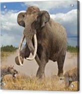 Steppe Mammoth Acrylic Print