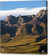 Steppe Valley With Surrounding Peaks Acrylic Print