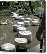 Stepping Stone Kyoto Japan Acrylic Print