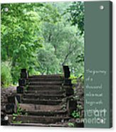 Steps And Lao Tzu Quote Acrylic Print