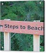 Steps To The Beach Acrylic Print