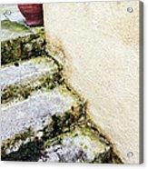Steps Wall And Vase Acrylic Print