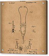 Stethoscope 1882 Patent Art Brown Acrylic Print