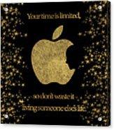 Steve Jobs Quote Original Digital Artwork Acrylic Print
