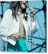 Steve Perry Of Journey At Day On The Green - July 1980 Acrylic Print