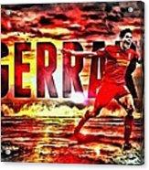 Steven Gerrard Liverpool Symbol Acrylic Print