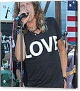 Steven Tyler Sings Acrylic Print