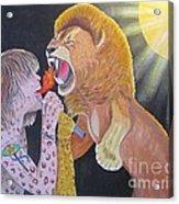 Steven Tyler Versus Lion Acrylic Print