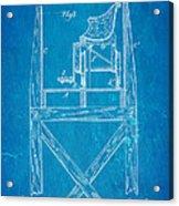 Stevens Roller Coaster Patent Art  3 1884 Blueprint Acrylic Print by Ian Monk
