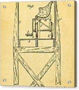 Stevens Roller Coaster Patent Art  3 1884 Acrylic Print by Ian Monk