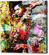 Stevie Ray Vaughan Original Acrylic Print