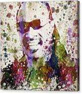 Stevie Wonder Portrait Acrylic Print by Aged Pixel