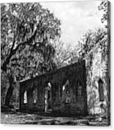 St.helena Chapel Of Ease Bw 1 Acrylic Print by Steven  Taylor
