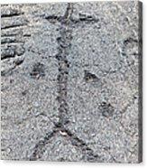 Stick Figure Petroglyph Acrylic Print