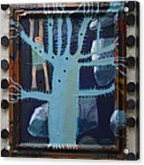 Sticker Tree - Framed Acrylic Print