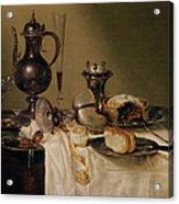 Still Life, 1642 Oil On Canvas Acrylic Print