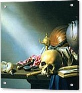 Still Life An Allegory Of The Vanities Of Human Life Acrylic Print