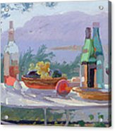Still Life And Seashore Bandol Acrylic Print by Sarah Butterfield