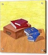 Still Life - Books Acrylic Print by Bav Patel