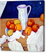 Still Life In Honor Of Cezanne   Acrylic Print