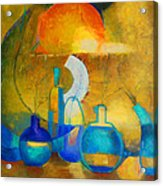 Still Life In Ocher And Blue Acrylic Print