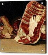 Still Life Of Sheep's Ribs And Head Acrylic Print by Francisco Jose de Goya y Lucientes