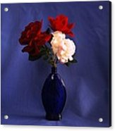 Still Life Red White And Blue Acrylic Print