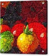 Still Life Tomatoes Fruits And Vegetables Acrylic Print