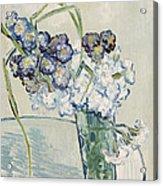 Still Life Vase Of Carnations Acrylic Print by Vincent van Gogh