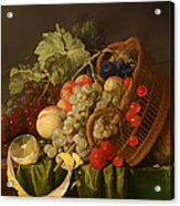 Still Life With A Basket Of Fruit Acrylic Print