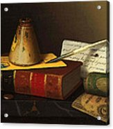 Still Life With A Writing Table Acrylic Print