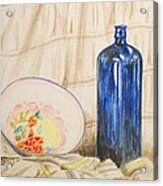 Still-life With Blue Bottle Acrylic Print