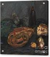 Still Life With Bread And Onions Acrylic Print
