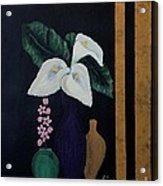 Still Life With Calla Lilies Acrylic Print