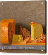 Still Life With Cheese Acrylic Print