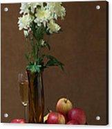 Still Life With Chrysanthemums Acrylic Print