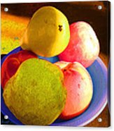 Still Life With Fruit Acrylic Print