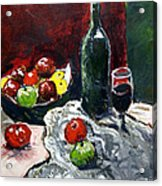 Still Life With Fruits And Wine Acrylic Print