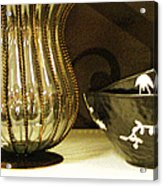 Still Life With Golden Vase Acrylic Print