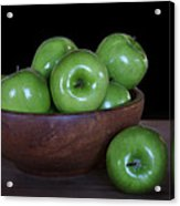 Still Life With Green Apples Acrylic Print