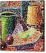 Still Life With Green Jug Painting Acrylic Print