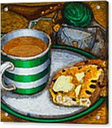 Still Life With Green Touring Bike Acrylic Print by Mark Jones