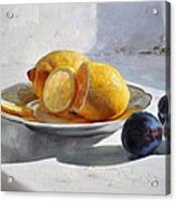 Still Life With Lemons Acrylic Print